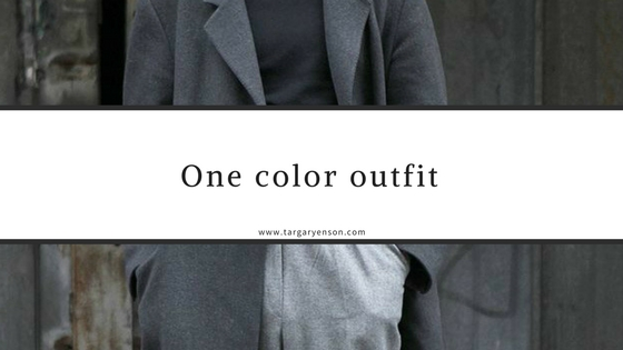 one color outfit